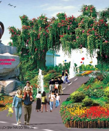 Bao Son Paradise green as its name